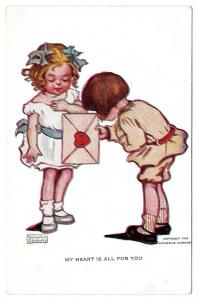 Katharine Gassaway Valentine My Heart is All For You Postcar