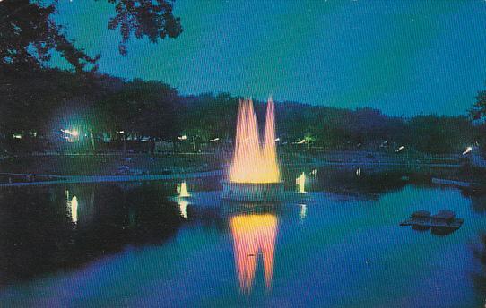 Canada Quebec Illuminated Fountain at Lafontaine Park