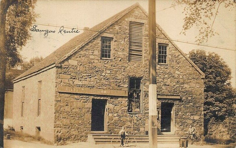 Saugus Center MA Post Office Real Photo Postcard