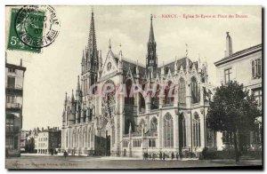 Old Postcard Nancy Church St Epvre and Place des Dames