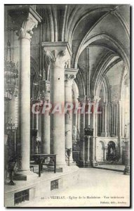 Postcard Old Church of Madeleine Vezelay Inner View