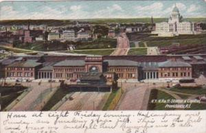 New York Hew Hampshire & Hartford Railroad Station & Capitol Providence Rhode...