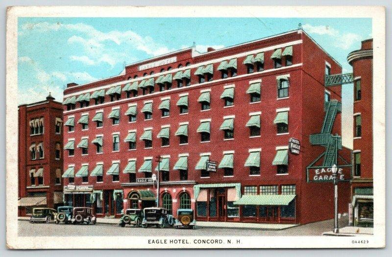 Concord New Hampshire~Eagle Hotel & Garage~Fire Escape Skywalk~Shops~1930