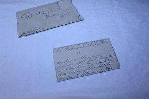 Vintage 1899 Hand Written 12 Page Letter in Original Envelope