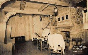 Port-Royal Habitation Governors Room Nova Scotia, Canada Real Photo Postcard