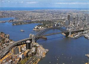Australia Aerial view of Sydney Harbour Bridge Brucke Panorama