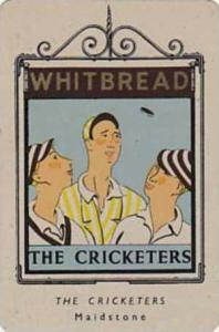 Whitbread Brewers Vintage Metal Trade Card Inn Signs 1st Series 1949 No 22 Th...