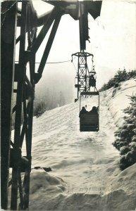 Romania Brasov cableway ski lift postcard