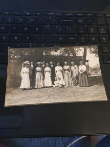 Vtg Postcard:  Family portrait ? Looks like Reissue of Late 1800s Card