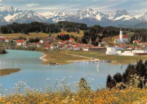 Lechbruck am See i. Allgaeu mit Tiroler und Allgaeuer Alpen Lake Mountains