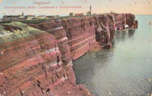 Germany Panorama of the South West Coast of Helgoland Lighthouse & Radio Station