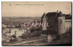 Old Postcard Dieppe Le Vieux Chateau North West Facade