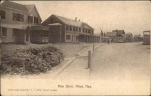 Minot MA Homes on Main St. c1910 Postcard