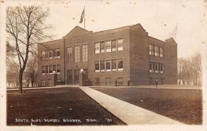 Benson Minnesota~South Side School~Real Photo Postcard RPPC 1911