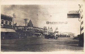 Old Orchard Beach ME Old Home Week Street View Old Cars RP Postcard