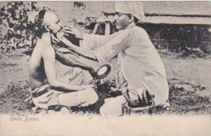 India Typical Native Hindu Barber
