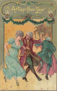 NEW YEAR; 1908; A Happy New Year, People dancing