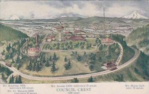 Oregon Portland Council Crest Amusement Park 1910