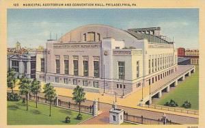 Exterior, Municipal Auditorium and Convention Hall, Philadelphia, Pennsylvani...