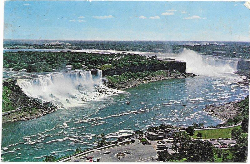 US Niagara Falls from Ontario Tower.   Stamp #1282