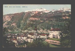 089698 SWITZERLAND Chur und Calanda 2808 m Vintage PC