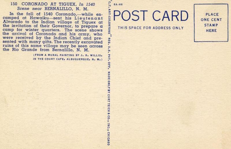 NM - Bernalillo. Coronado at Tiguex