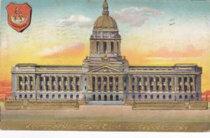 Coat of Arms, Kentucky New State Capitol Building, Frankfort, Kentucky, PU-1910
