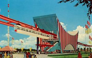 NY - New York World's Fair, 1964-65. American Machine & Foundry Co. Monorail ...