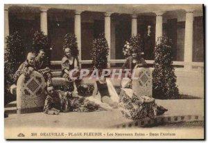Old Postcard Deauville Beach Fleurie New Bains The Atrium