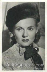 Anna Todd Trade Card Actor, Actress, Movie Star Unused