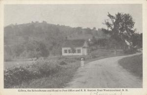 EAST WESTMORELAND, New Hampshire, 1900-10s; Gilboa, Girl standing on dirt road