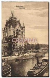 Old Postcard Rotterdam Witte Huis boat Peniche