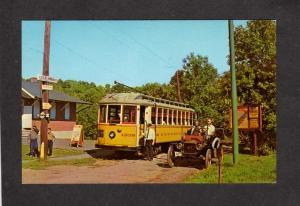 CT Connecticut Streetcar Trolley Ford Car Automobile East Haven Conn Postcard