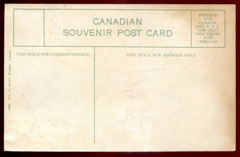 dc1389 - WINDSOR Ontario Postcard 1910s Post Office by Martin