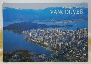 Aerial View Vancouver Canada Vintage Postcard