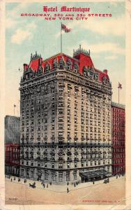 Hotel Martinique, New York, N.Y., Early Postcard, Used in 1910