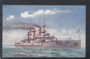 Military Shipping - H.M.S.Triumph - Tucks Our Ironclads Series II - HP522