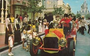 Mickey Mouse Riding Down Main Street Walt Disney World Orlando Florida 1971