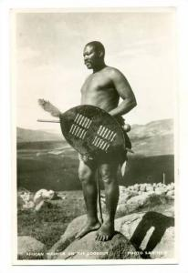 RP, African Warrior On The Lookout, Africa, 1930-1950s