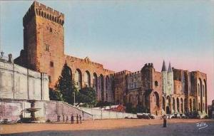 France Avignon Palais des Papes Facade Occidentale et Tour Campane