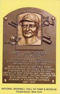 Lloyd James Waner Little Poison Baseball Hall Of Fame & Museum Cooperstown Ne...