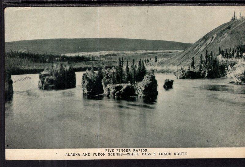 Five Fingers Rapids,Alaska and Yukon Scens,White Pass & Yukon Route