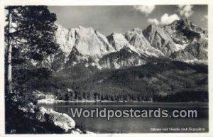 Eibsee mit Hotels Zugspitze Swizerland 1950