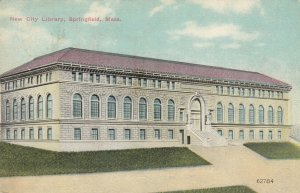 SPRINGFIELD , Massachusetts, PU-1910 ; New City Library