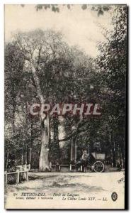 Old Postcard Rethondes Foret Laigues Louis XIV Oak