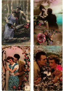 ROMANTIC COUPLES GLAMOUR REAL PHOTO lot of 800 CPA Pre-1940 Part 3. (L2448)