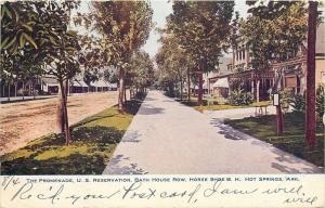 Hot Springs Arkansas~The Promenade~Horse Shoe Bath House Row~1907