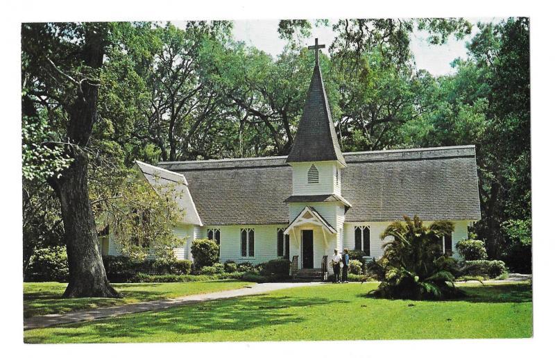 Christ Church Frederica St Simeon Island Georgia Vintage CL Marsh Postcard