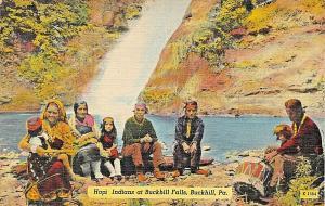 BUCK HILL PA~HOPI INDIANS AT BUCK HILL FALLS-FRED SCHAEFER PUBL 1940s POSTCARD