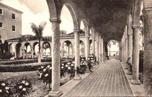 Florida Sebring Harder Hall On Rex Beach Lake The Colonnade Albertype